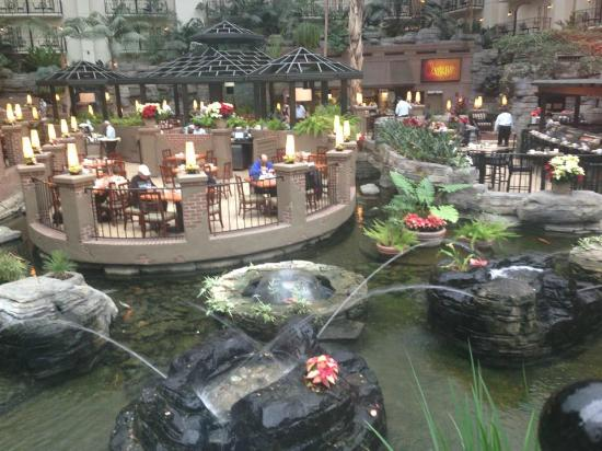 Restaurant Overlooking Beautiful Pond Picture Of Gaylord Opryland