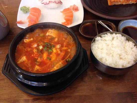 Baekdu: Very hot soup and rice