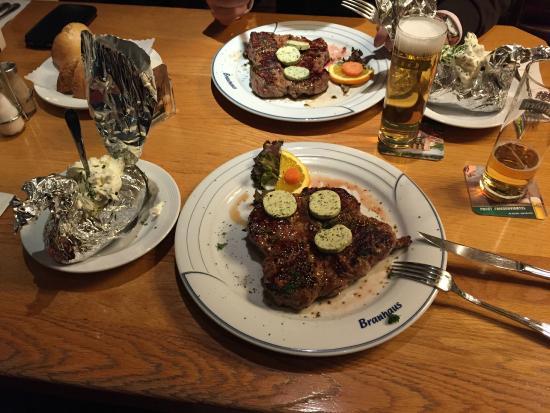 Gilden Brauhaus: carne
