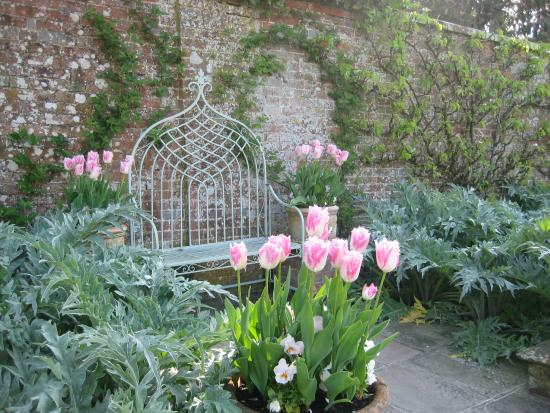 Ticehurst, UK: Pashley Manor Gardens Tulips and Bench by Kate Wilson