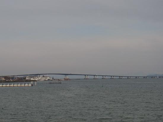 Lake Biwa Bridge: 浮御堂から見た琵琶湖大橋