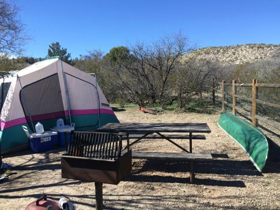 """Verde Valley RV & Camping Resort: Our tent spot in the """"A"""" section."""