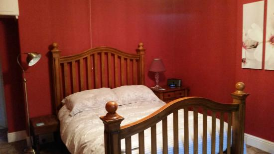 Comfortable bed (Room One) at Thorndene B&B