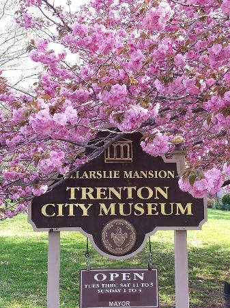 Trenton, NJ: Ellarslie Sign in the Springtime