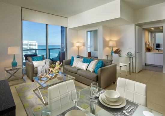 Churchill Suites Monte Carlo Miami Beach: Living Room With Sofabed And  Private Balcony In Deluxe