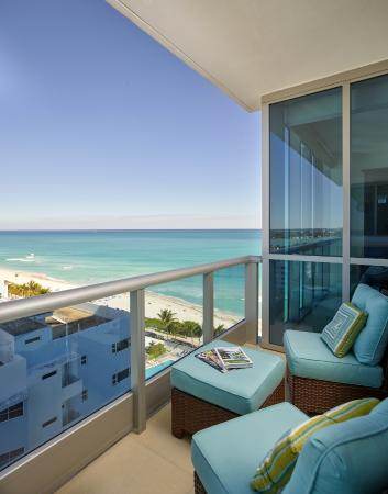 The Deluxe Ocean Front Apartment Suite Balcony Features