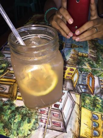 Mama Mia Italian Deli & Pizzeria : Fresh made Lemonade with Angostura Bitters.