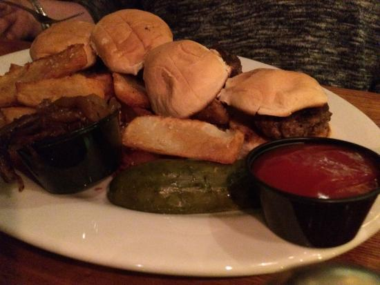 The Elbow Room: Burger sliders which were really good