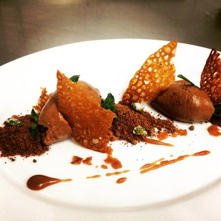 Elizabeth's Restaurant: Dark chocolate mousse with chocolate soil and ...
