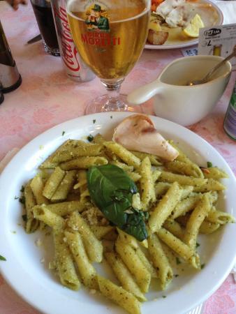 Pasta en el Gran Caffe San Marco