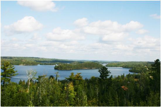 Custom Cabin Rentals : View from deck of Cabin 8