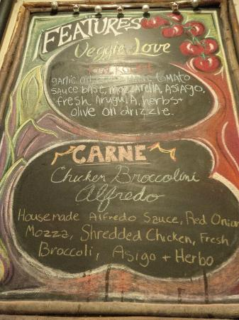 Creekbread : feature menu