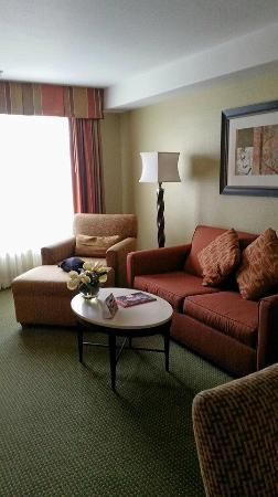 Homewood Suites by Hilton Vancouver-Portland : living area