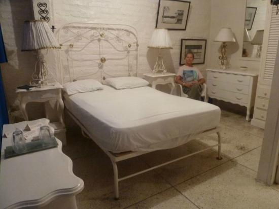 Hotel La Herradura: Furnished in soft white.  Cover sheets removed here.