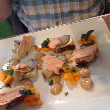 Les Hortensias: Huitres / foie gras