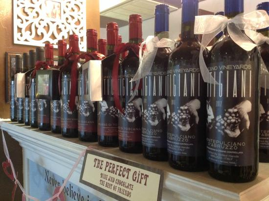 Faith, Hope and... Chocolate!: We also sell boutique wines!