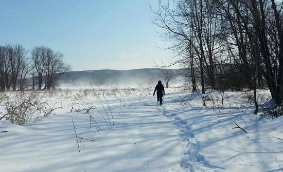 Glenwood, Nueva Jersey: Snowshoeing at Wallkill River National Wildlife Refuge. Hiking and birding would also be good!