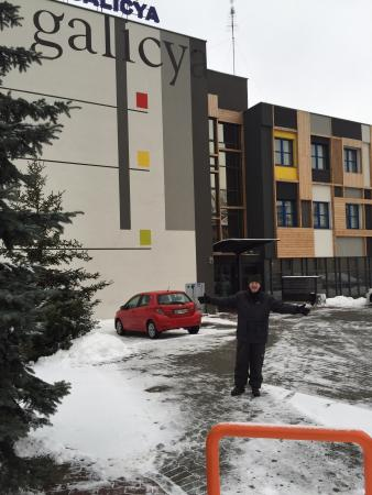 Best Western Hotel Galicya: Dad outside Galycia