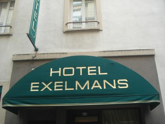 Hotel Exelmans : Outside the hotel