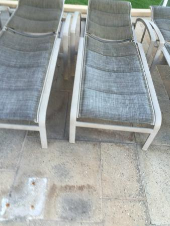 Kapalua, HI: dated, ugly pool furniture