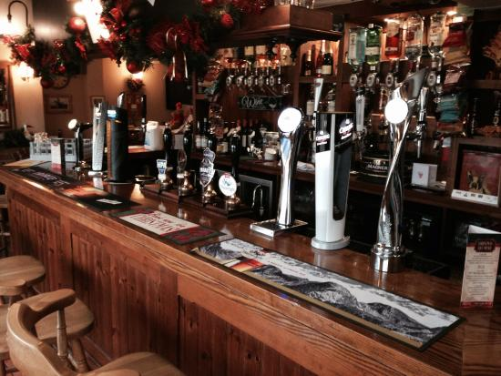 the chetwynd arms, upper longdon: New pumps look great in the bar