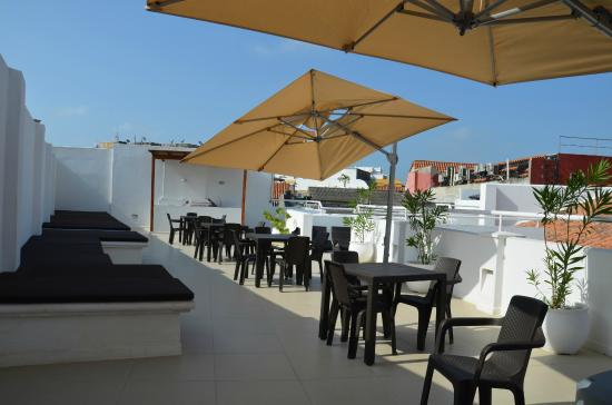 Foto de casa escallon hostel cartagena terraza tercer - Hacer terraza en piso ...