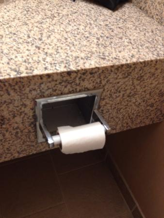 Country Inn & Suites by Radisson, Portage, IN: This is the toilet paper left in our new room for us. Housekeeping definitely should have tossed