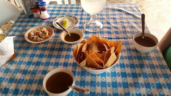 LA Bahia del Caribe: Seafood soup and ceviche