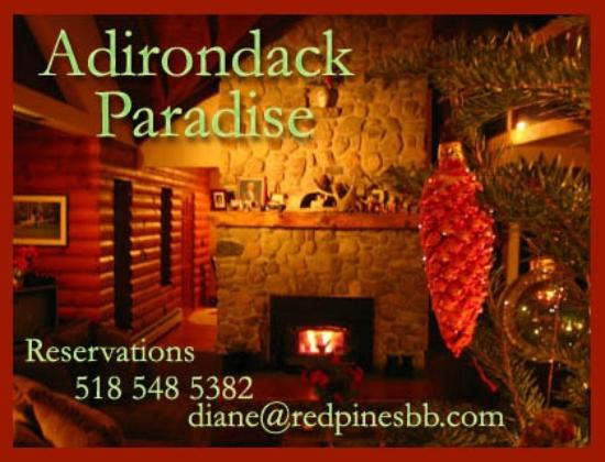 Red Pines Bed & Breakfast: Great Room Fireplace