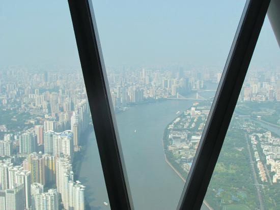 The Guangzhou Marking Tower of the Tropic of Cancer : A Good overview of Guangzhou city and river