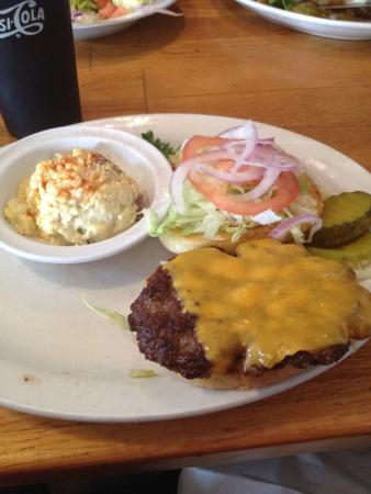Americas Family Diner: Great burger, potato salad should have stayed home