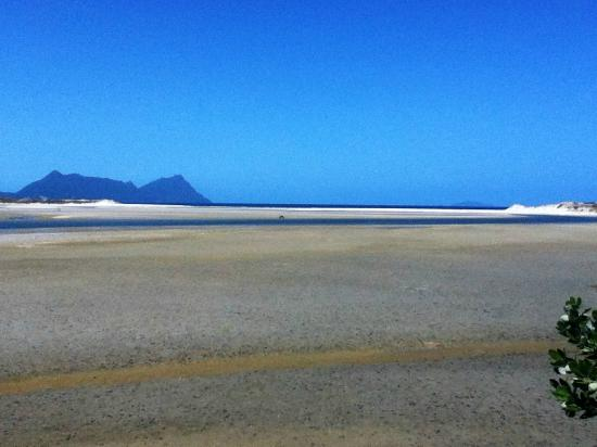 Ruakaka Beach: The river flat