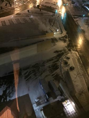 Courtyard Indianapolis Downtown: view from room overlooking trash compactors and docks/loading areas...possibly where AM noise fr