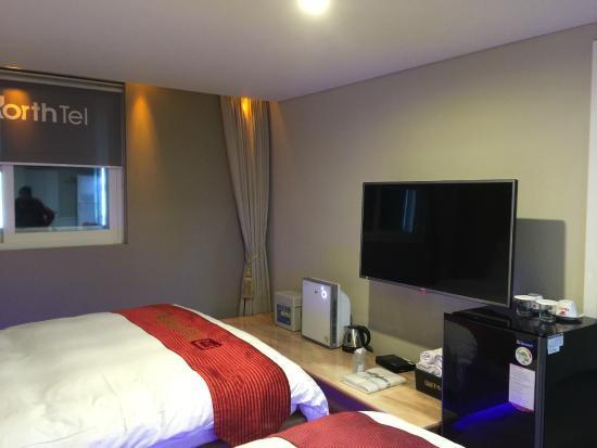 Hotel North Tel: Big flat screen tv