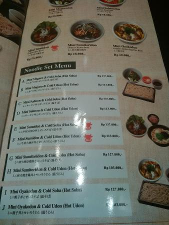 Otterhound Jakarta Menu Ootoya menu - Picture ...