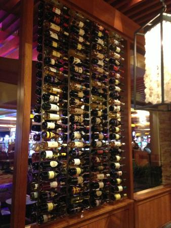 Cache Creek Indian Bingo & Casino: Canyon Cafe Wine rack