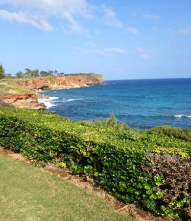 Poipu Bay Resort Golf Course: View looking back from the 17th tee