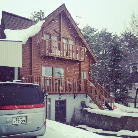 Balls Deep Inn Villas: While it was snowing