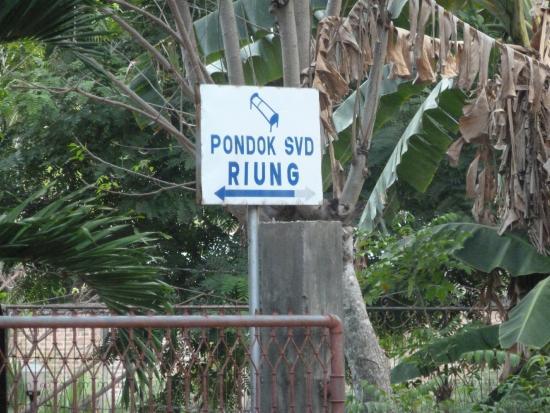 Pondok SVD : weg naar hotel