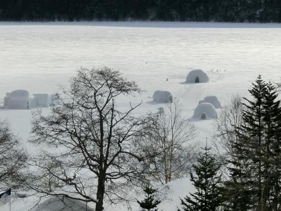 Shikaribetsu Lake : すべて凍った湖の上です