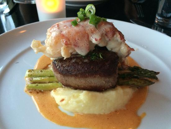 Circa 1918 Kitchen & Bar: Tenderloin of Beef with Lobster tail.