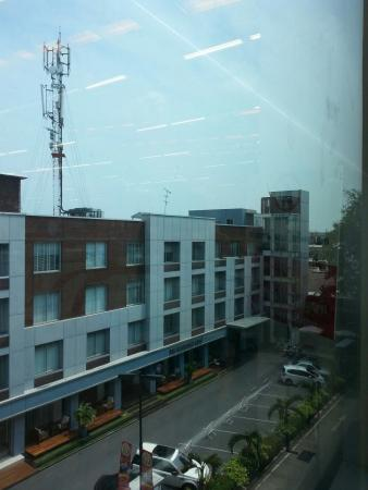 The Bedrooms Boutique Hotel: The big telco tower is a big concern to me