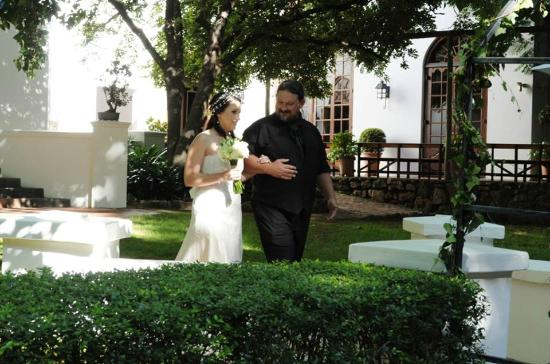 Kleinkaap Boutique Hotel: The outside ceremony area is beautiful