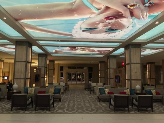Lobby View Facing Entry Doors Of Hotel Picture Of Hilton Orlando
