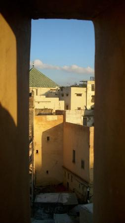 Dar Sienna : View of the Riad from Wood Museum