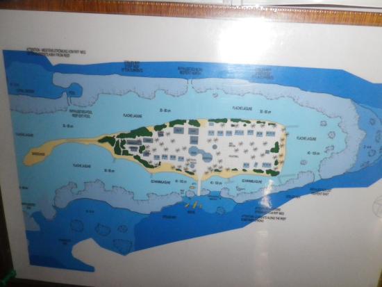 Asdu Sun Island: plan asdu island atoll malé nord