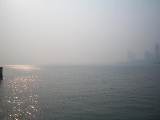 Qingdao International Sailing Centre: Looking out to sea
