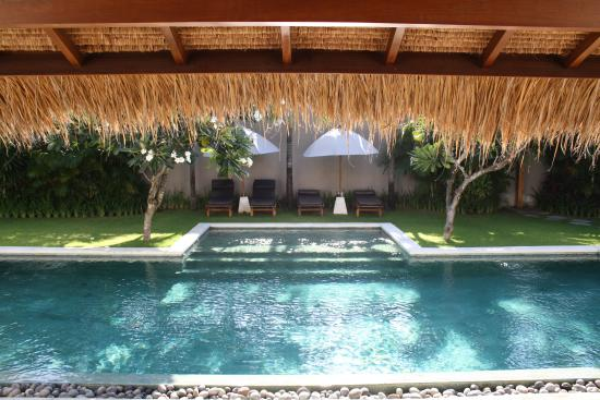 Villa chocolat: Chilling by the pool...