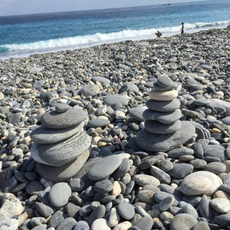 Chishingtan Scenic Area: 七星潭 (Qi Xing Tan)has a great Pebble Beach walk, where you can pick rocks you like.  Another fun