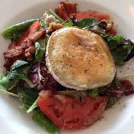 Cafe Bonjour: Warm goat cheese and brie salad.